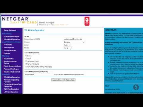 Video Anleitung - WLAN Name (SSID) und Passwort ändern beim NETGEAR WGR614v9 Router.wmv