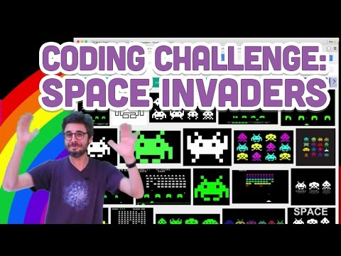 Coding Challenge #5: Space Invaders in JavaScript with p5.js