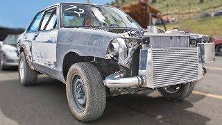 CRAZY Garage Built Datsun - Turbo s2000 swap!