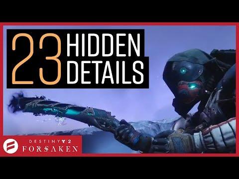Destiny 2 Forsaken - Taken Rose Exotic, Fallen Hive Hybrids & More!! // 23 Hidden Reveal Details! thumbnail