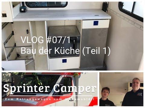 Sprinter Camper: Vom Rettungswagen zum Wohnmobil Umbau Ausbau Video #07/1 Bau der Küche