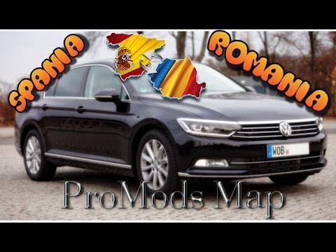 DIN SPANIA IN ROMANIA CU VW PASSAT   HARTA PROMODS (Euro Truck Simulator 2)