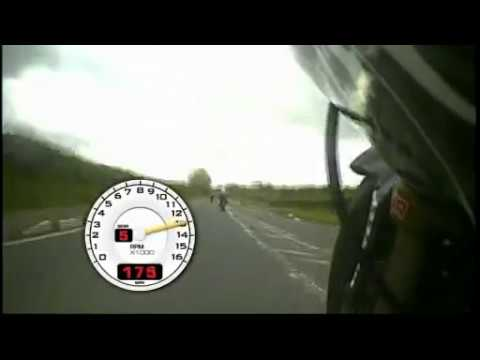 NW200 Race 2009 OnBoard Suzuki GSXR1000 with Telemetry Near 200MPH/ 309 KMH HD