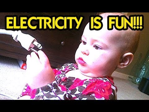 BABY PLAYING with ELECTRICITY!!!