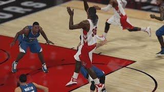 NBA 2K15 PS4 My CUHreer - Spin Block!