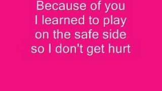 download lagu Kelly Clarkson Because Of You . gratis
