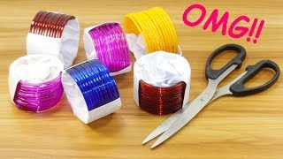 Diy bangles reuse idea | DIY arts and crafts | Amazing craft idea | DIY HOME DECO