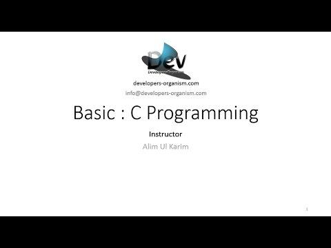 01. Session 1 : Introduction to C Programming (Bengali Language)