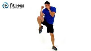 Kickboxing Cardio and Abs - 9 Minute No Equipment Cardio Workout to Burn Belly Fat