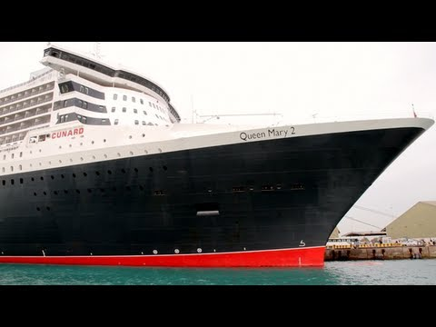 Arrival of the Queen Mary 2 at Zayed Port 29th January 2013