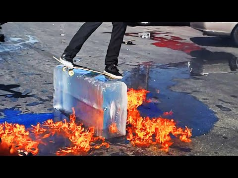 EXTREMELY DANGEROUS ICE SKATE LEDGE!!!