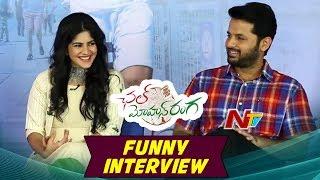 Chal Mohan Ranga Movie Funny Interview | Nithin | Megha Akash | Pawan Kalyan || NTV