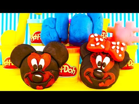 Mickey Mouse Play Doh Minnie Mouse Kinder Surprise Eggs with Mario Cars 2 Thomas Trash Pack Disney