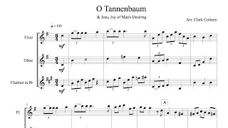 O Tannenbaum - for Wind Trio - Arr. Clark Cothern (1957-  ) [BMI]