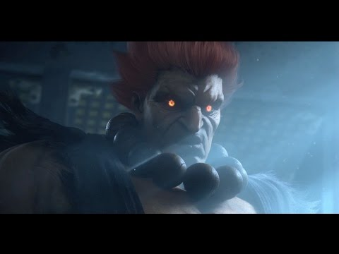 Tekken 7 PS4 Gameplay of Akuma vs Heihachi - TGS 2016