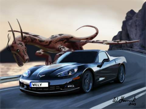Speed Painting Dragon VS Car - original painting and original music by Williams Shamir Video
