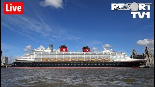 🔴Live: The Disney Magic Sails from Liverpool in the UK Part 2 (Great Marko Live!)