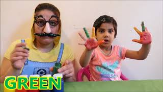 Learn Color Fun With body paints color for kids and children Fun/Colours finger family song for baby