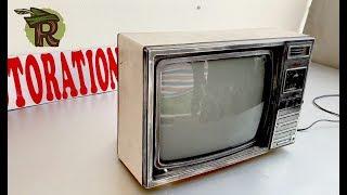 Restoration SAMSUNG TVs produced in 1985   Antique television restore   Upgrade AV port for TV