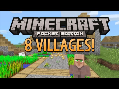 8 VILLAGES SEED! - Minecraft Pocket Edition (Best Village Seed)
