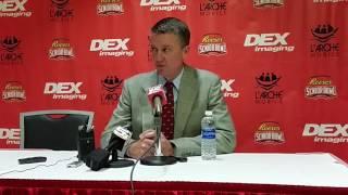 Greg Byrne speaks before the L
