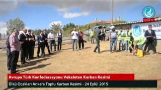 Ülkü Ocakları - Ankara Toplu Kurban Kesimi - 24 Eylül 2015