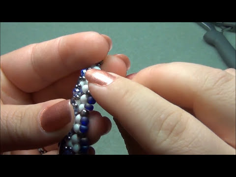 Lattice Beaded Bracelet Tutorial