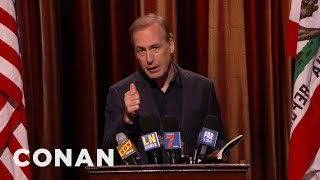 Bob Odenkirk Reads From His Book A Load Of Hooey  - CONAN on TBS