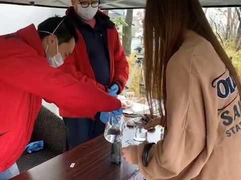 阿部牧場が市民に消毒用アルコールを無料配布