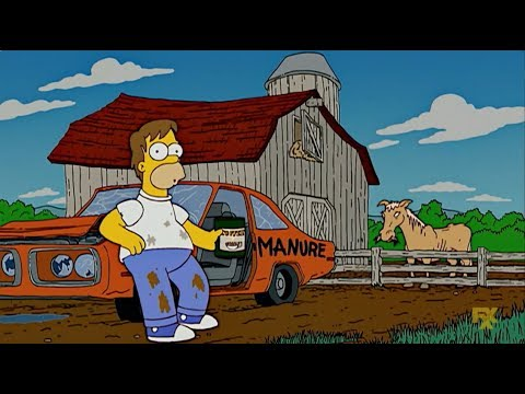 The Simpsons. Homer's first job. HD