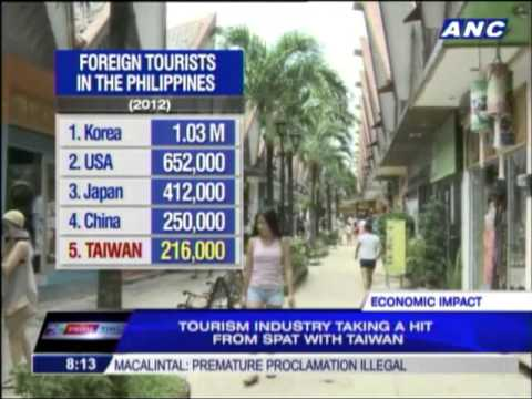 Taiwanese tourists leave Philippines