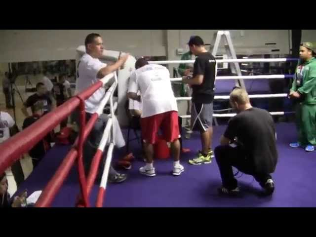 Brandon Rios COMPLETE Mitt Workout with Robert Garcia (UNEDITED) vs Manny Paciao