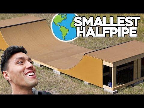WORLD'S SMALLEST HALFPIPE!!