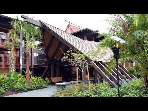 Disney's Polynesian Village Opening Day DVC Moorea Longhouse, Bora Bora Bungalow Area & Sunset Point