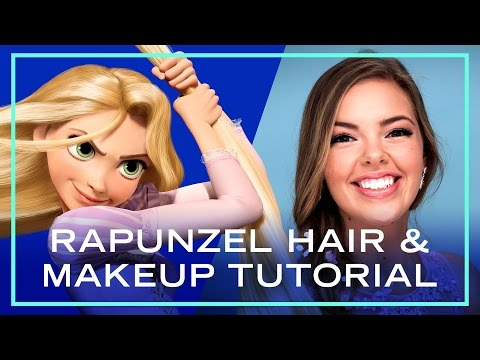 Rapunzel Hair and Makeup Tutorial for Prom | Disney Style