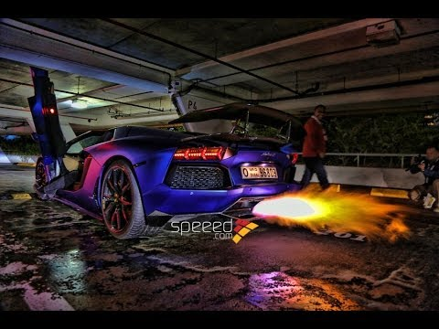 Lamborghini Aventador Causes Fire لمبرجيني افينتادور تتسبب بحريق Youtube