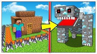 LA CASA NOOB PIU' SICURA CONTRO L'INVASIONE DEI MINERALI! - Minecraft ITA