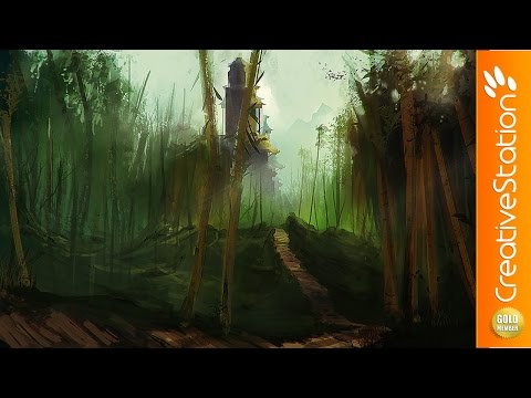 Bamboo Forest - Speed Painting (#Photoshop) | CreativeStation GM