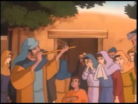 Jesus Raises Lazarus - ( Children Christian Bible Cartoon Movie ) video