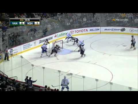 Vancouver Canucks @ Nashville Predators Highlights 3/29/11