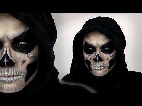 Грим на хэллоуин череп