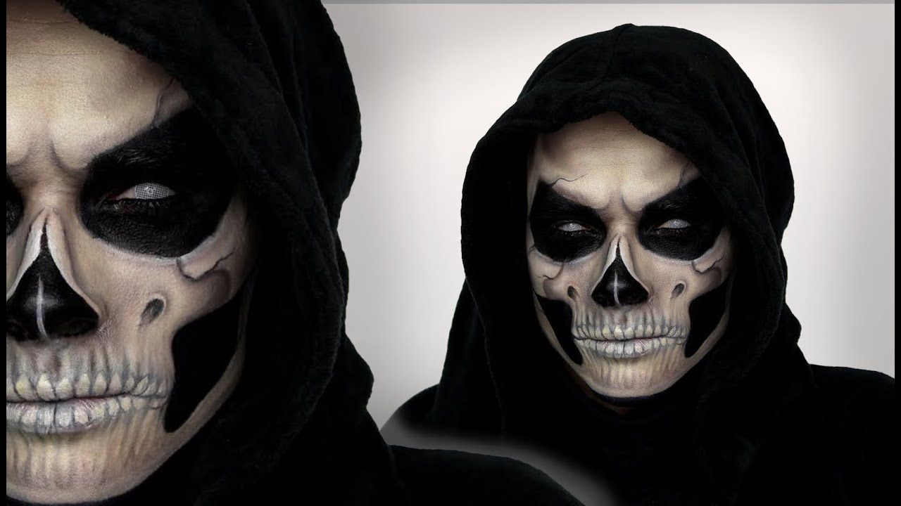 grim reaper makeup tutorial for halloween shonagh scott. Black Bedroom Furniture Sets. Home Design Ideas