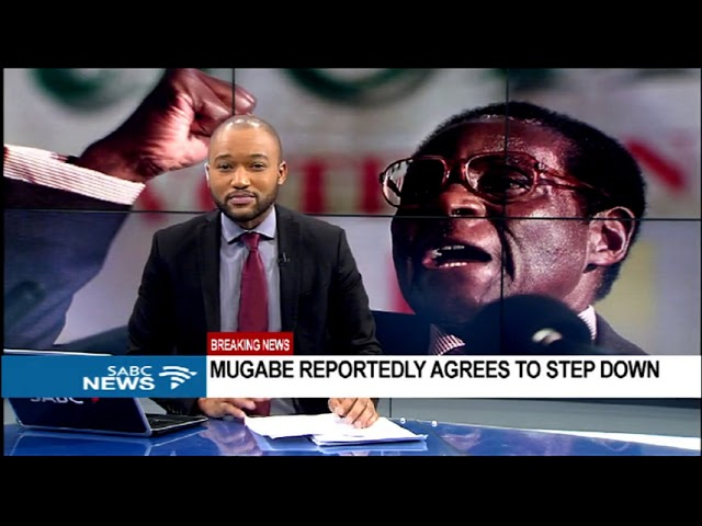 President Robert Mugabe reportedly agrees to step down