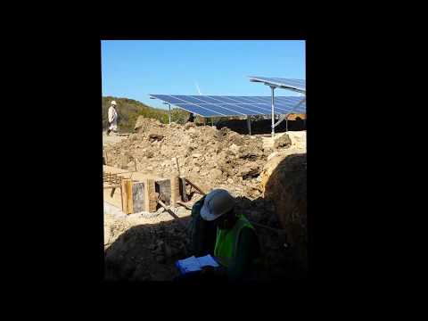 Solar wind electrical grounding test