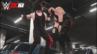 WWE-2K18-Kane vs. Braun Strowman- backstage brawl  Match- -RAW 2017
