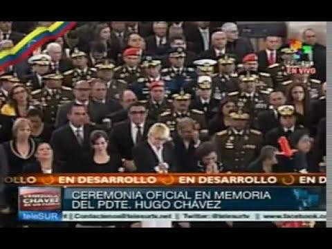 Funerales del Comandante Hugo Chávez (08/03/2013) | Ovación a Ahmadineyad Presidente de Irán