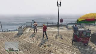 GTA 5 Online Funny Moments - Giant Plane Sank Underwater, Street Performer, Becoming A Fish!