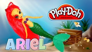 Play Doh craft. Ariel Little Mermaid Custom My Little Pony Equestria Girls Mini Doll HD