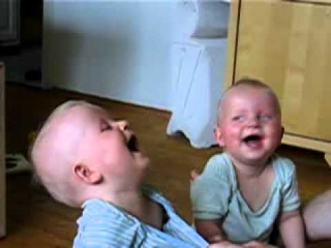 laughing twins - twin babies laugh at their father