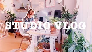 STUDIO VLOG | drawing with Procreate & meeting Patreon 🍂